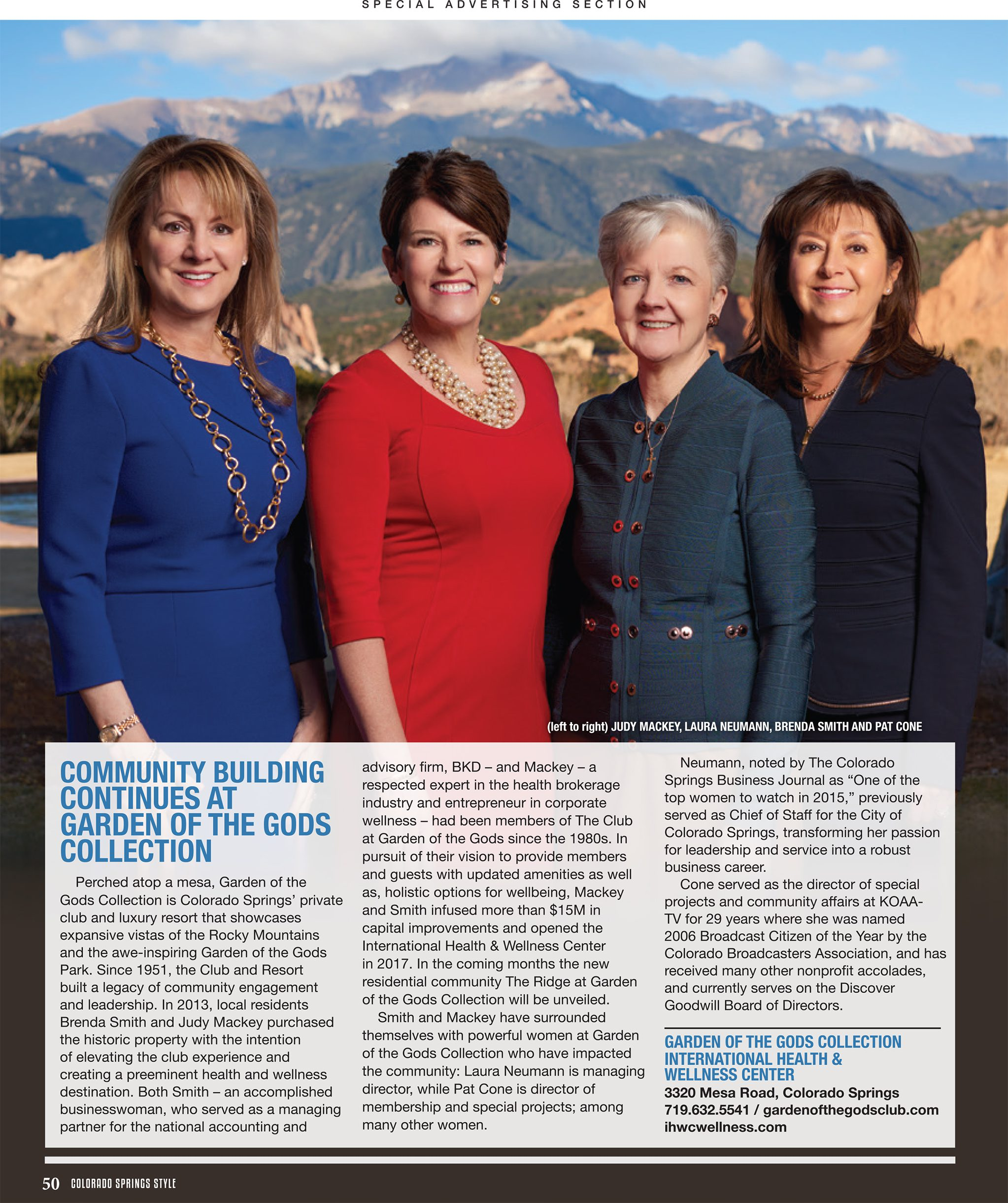 colorado springs style magazine women of business garden of the gods collection international health and wellness center